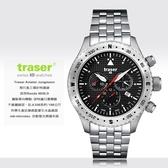 瑞士Traser Aviator Jungmann 飛行員三環計時器錶 ( 鋼錶帶 ) #100 369