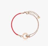 紅繩手鍊韓版簡約個性紅色手繩