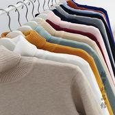 男士毛衣冬季加厚潮流韓版個性高領針織衫ins寬鬆學生長袖打底衫 酷男精品館