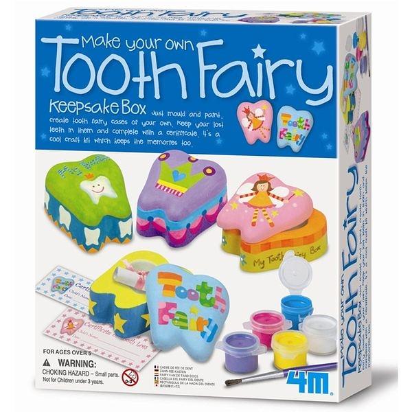 《4M美勞創作》Make Your Own Tooth Fairy Keepsake Box 牙齒精靈寶盒   ╭★ JOYBUS玩具百貨