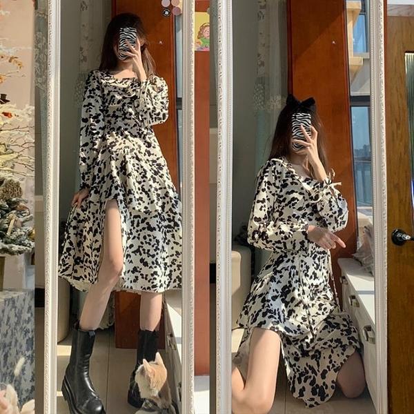 法式初戀韓風chic洋裝開叉別致設計感小眾可鹽可甜炸街早春裙子 幸福第一站