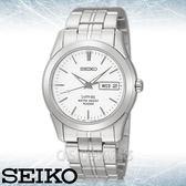 SEIKO 精工手錶專賣店 國隆 SGG713P1 簡約時尚石英男錶 不鏽鋼錶帶 白色錶面 藍寶石水晶玻璃鏡面