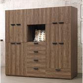 【森可家居】馬可7尺組合衣櫥 9HY78-01  衣櫃 木紋質感 台灣製造 MIT