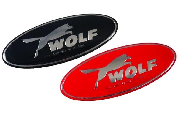 FORD 福特 WOLF 立體貼標 車標 廠徽 12.5x4.6cm ESCAPE TIREEA MAV FOCUS