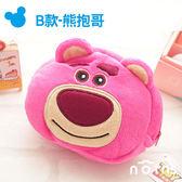 Norns 【B款熊抱哥拉鍊包】 玩具總動員 迪士尼正版卡通絨毛束口袋 拍立得相機包