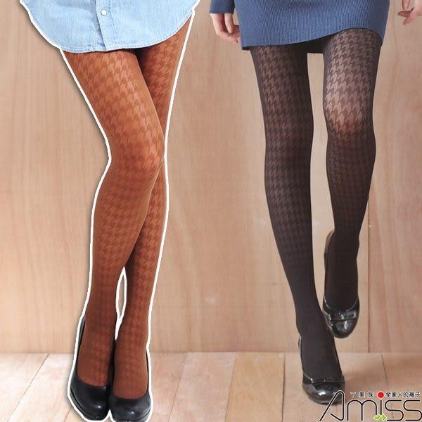 丫美族-襪子團購網♥【A133-21】流行花紋褲襪-千鳥格(2色)