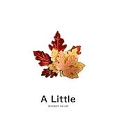 A Little入秋楓葉胸針可愛日系別針男女個性ins潮金屬徽章裝飾品 夢幻小鎮