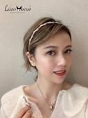 甜美優雅氣質髮卡髮箍女百搭髮帶韓國網紅外出珍珠頭飾壓髮細頭箍 城市科技