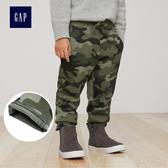 Gap男嬰幼童 純棉系帶迷彩休閒褲 兒童長褲358926-綠色迷彩