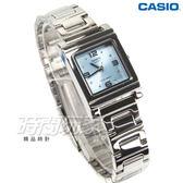 CASIO卡西歐 原廠公司貨 LTP-1237D-2A 日本機芯 知性神采氣質方型女錶 水藍 LTP-1237D-2ADF
