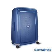 Samsonite 新秀麗 25吋 S'CURE 四輪 PP硬殼TSA扣鎖行李箱(深藍)