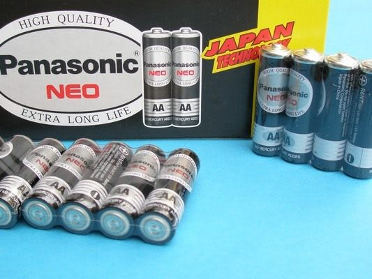 Panasonic國際牌電池AA-3號環保電池(黑色)4個入/一小包入{促65}