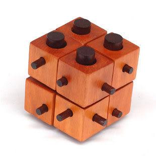 生日禮物 成人木制益智玩具 古典玩具 孔明鎖魯班鎖 八方塊
