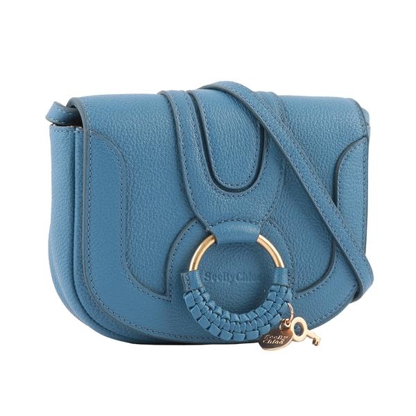 【SEE BY CHLOE】HANA BAG 迷你型山羊皮斜背包(月光藍) CHS17AS901305485