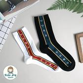 【正韓直送】韓國襪子 側邊細條英文字加大男性中筒襪 男襪 長襪 生日禮物 型男 哈囉喬伊 M59