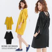 【KOMI】背綁帶蝴蝶結洋裝  (1736-159975)