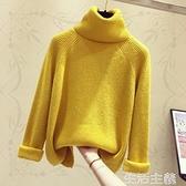 羊毛衫 新款高領毛衣女秋冬加厚保暖韓版寬鬆套頭長袖網紅打底針織衫 生活主義