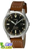 [105美國直購] Timex WoMens 女士手錶 Waterbury Quartz Stainless Steel and Leather Dress Watch, Color:Red