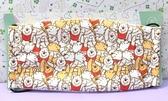 【震撼精品百貨】Winnie the Pooh 小熊維尼~布面大人口罩~滿版舉手#21416