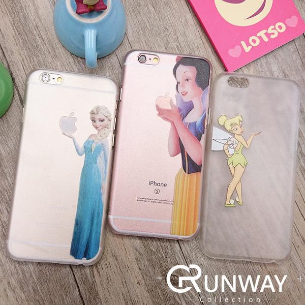 【R】DD 卡通公主 小仙子 手機殼 iPhone 6 plus I6 蘋果 磨砂透明 半包邊硬殼