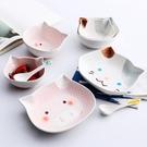 卡通貓咪陶瓷碗盤餐具套裝