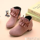 女童短靴 女童靴子加絨秋季小女孩公主短靴韓版潮時尚中大童馬丁靴寶貝計畫