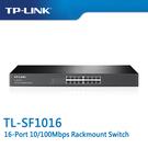 【免運費】TP-LINK  TL-SF1016  16-Port 10/100Mbps 商用 非管理型 交換器