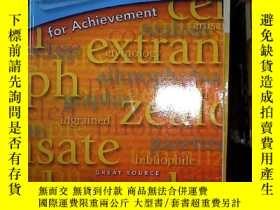 二手書博民逛書店VOcabulary罕見for achievement firs