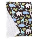 美國 Baby Elephant Ear 親膚毛毯/冷氣毯/防風毯/毯子(68x74cm)-藍色動物園