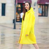 雨衣成人背包定制LOGO大碼長款戶外徒步旅遊男女透明帽檐時尚雨披【全館滿千折百】