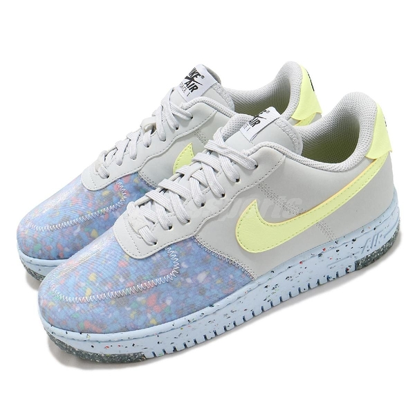 Nike 休閒鞋 Air Force 1 Crater 灰 黃 男鞋 AF1 回收再生材質融入 運動鞋 【ACS】 CZ1524-001