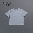 Queen Shop【01038237】親子系列 配色條紋圓領上衣 1/2/3/4*現+預*