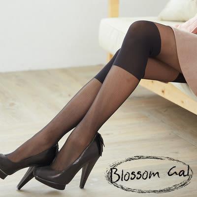 Blossom Gal ROCK時尚設計感兩截式透膚褲襪