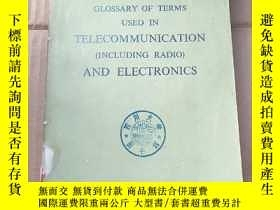 二手書博民逛書店glossary罕見of terms used in telecommunication and electron