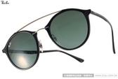 RayBan 太陽眼鏡 RB4266 60171 (黑) 時尚復古半圓框款 # 金橘眼鏡