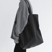 貓西原創大容量男女單肩包購物袋復古做舊帆布袋環保袋健身包新品