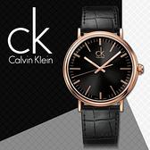 CK手錶專賣店 K3W216C1 女錶 黑面 玫瑰金X黑 強化礦石玻璃鏡面 不鏽鋼錶殼 皮革錶帶