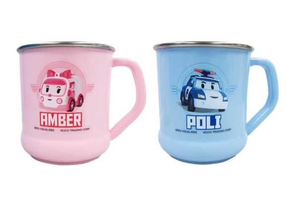 POLI 波力救援小英雄 不鏽鋼兒童水杯/漱口杯 240ml (波力/安寶)