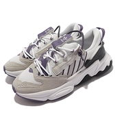 adidas 休閒鞋 Ozweego ZIP W 白 灰 紫 愛迪達 拉鍊設計 女鞋 三葉草【ACS】 GZ2641