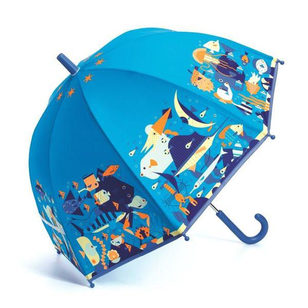 【愛吾兒】法國 智荷 DJECO 藝術插畫雨傘-海洋世界