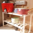 廚房收納架 多功能伸縮置物架-北歐白【G...