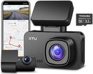 XTU【美國代購】4K行車記錄器 WiFi SONY傳感器 雙攝像頭1440P + 1080P內置GPS