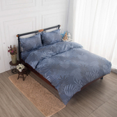 【夢工場】千葉如畫舒爽天絲兩用被床包組-雙人