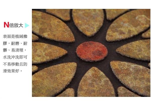 地墊【橘果設計】多款可選 古典羅馬防滑刮泥蹭土腳墊60*90cm 玄關門墊壁貼門簾風水簾掛毯窗簾