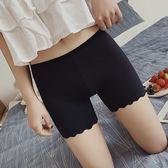 冰絲無痕蕾絲防走光安全褲女學生夏季薄款內穿打底保險短褲可外穿