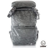 【禾雅】LIUKOO戰地叢林迷彩系列 – 大容量越野質感防潑水登山後背包-【神秘黑】
