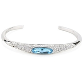 水晶手環 925純銀-閃耀動人鑲鑽生日情人節禮物女手鍊9色73ak119【時尚巴黎】