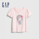 Gap女幼童 甜美純棉圓領短袖T恤 752835-粉色