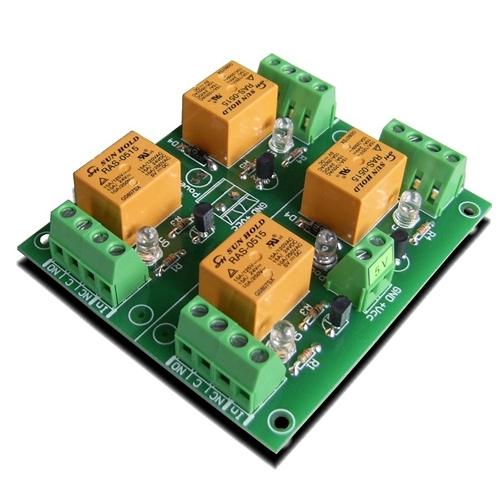 [2美國直購] denkovi 繼電器板 4 Channel relay board for your Arduino or Raspberry PI 5V