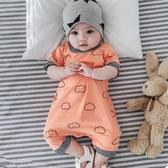女嬰兒連體衣服夏裝新生兒5夏天3個月6薄款2男寶寶哈衣0-1歲7純棉